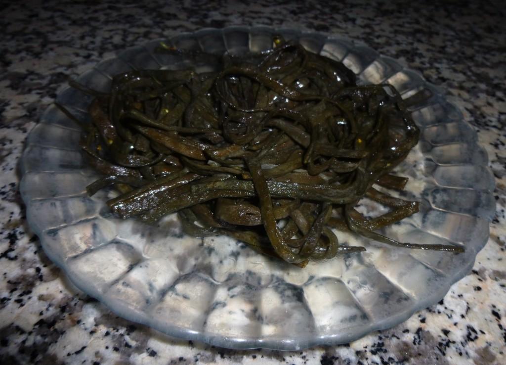 Algues cuites de type haricot de mer