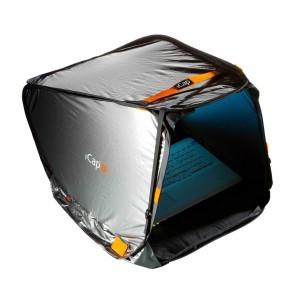 Tente pare-soleil pour utiliser son ordinateur portable dehors