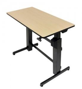 bureau assis debout bureau hauteur r glable ergotron. Black Bedroom Furniture Sets. Home Design Ideas